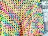 Adriafil Pintau Granny Triangle Shawl stitches