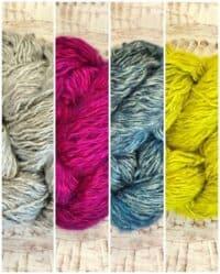 Faery Wings Creiddlyad Shawl Silver, Magenta, Stormy Sea, Chartreuse