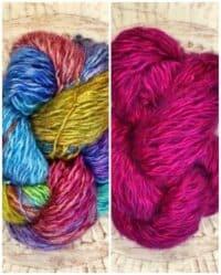 Faery Wings Creiddlyad Shawl Rainbow & Magenta