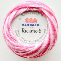 Adriafil Ricamo 8 #92 Shaded Fuchsia