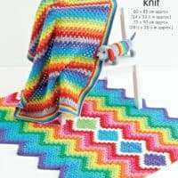 King Cole Rainbow Blankets & Sausage Dog Pattern #5502