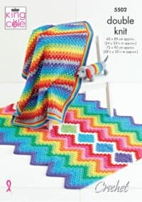 King Cole Rainbow Blankets & Sausage Dog Pattern #5502