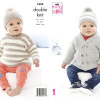 King Cole Sweater, Cape and Hats Patter #5548