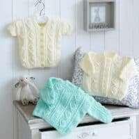 Diamond Cable Knit Sweater & Cardigan DK Pattern