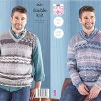 King Cole Mens Sweater and Vest Pattern #5651