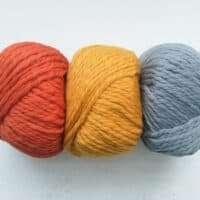 Adriafil Obelix Brioche Cowl Orange, Ochre, Grey Kit