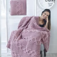 King Cole Super Chunky Cabled Blanket #5339