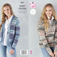 King Cole Quartz Super Chunky Sweater Pattern #5636