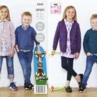 King Cole Childrens Sweater & Cardigan Fashion Aran Pattern #5542