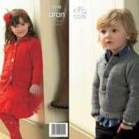 King Cole Fashion Aran Pattern 3340 Sweater & Coat Pattern