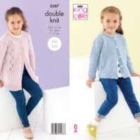 King Cole Girl's Cardigan Patterns #5587