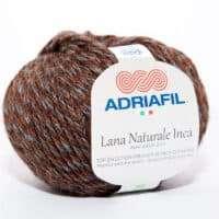 Adriafil Lana Inca Alpaca Wool Aran DK #66 Brown Tweed