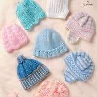 King Cole DK Baby Hat Pattern 2824