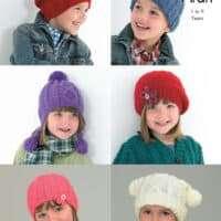 King Cole Aran Hats Child 1-9 years #3390