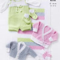 King Cole Cottonsoft DK Romper and Cardigans Pattern #5468