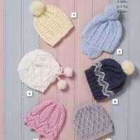 King Cole Aran Child Hat Pattern #5544