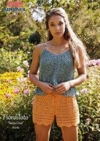 Adriafil Fiordiloto Cotton/Viscose/Linen Shorts Pattern