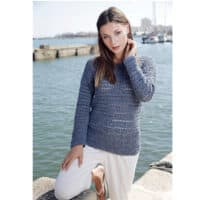 Adriafil Terna Lisboa Crocheted Sweater Pattern
