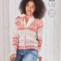 King Cole Fjord DK Ladies Cardigan and Vest Pattern 5698
